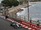 Nico Rosberg během tréninku na Velkou cenu Monaka.