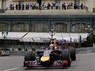 Daniel Ricciardo  během tréninku na Velkou cenu Monaka.