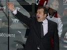 Kouč hokejistů New York Rangers Alain Vigneault se snaží marně burcovat svůj...