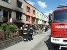 Požár v Němčicích na Hané nejprve zachvátil garáž, hořet však začal i rodinný...