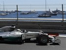 Lewis Hamilton z Mercedesu  při tréninku na VC Monaka.