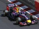 Daniel Ricciardo z Red Bullu při tréninku na VC Monaka.