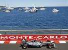 Nico Rosberg z Mercedesu během Velké ceny Monaka.