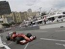 Fernando Alonso z Ferrari ve Velké ceně Monaka
