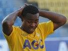 Teplický fotbalista Eugene Salami lituje promarněné příležitosti.