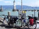 Cyklisté u Bodamského jezera (Lindau)