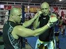 Daniel Landa trénuje před zápasem v thajském boxu až na dřeň. Prohrát nechce.