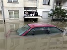Záplavy ve městě Bosanski Šamac (Bosna a Hercegovina, 19. května 2014).