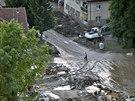 Ve městě Maglaj už voda opadla (Bosna a Hercegovina, 19. května 2014).