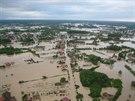 Rozvodněná Sáva zaplavila město Bosanski Šamac (Bosna a Hercegovina, 19....