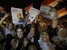 P��znivci S�s�ho slavili v noci slavili v�t�zstv� na n�m�st� Tahr�r (K�hira,...