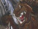 Emil Filla, Kůň drásaný lvem, 1938