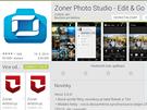 Aplikace Zoner Photo Sludio - Edit & Go 3.0 v Obchodu Play.