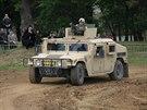 Humvee, které používaly naše jednotky v Afghánistánu