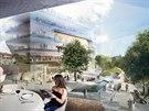 Projekt Bořislavka Centrum, který budou tvořit celkem čtyři prosklené budovy, nabídne kanceláře, obchody a restaurace.
