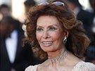 Sophia Lorenová (Cannes, 20. května 2014)