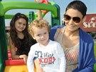 Vlaďka Erbová a její děti Viktorka a Markus