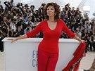Sophia Lorenov� v z��� oslav� 80. narozeniny (Cannes, 21. kv�tna 2014).