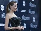 Angelina Jolie na premiéře filmu Zloba - Královna černé magie (Hollywood, 28....