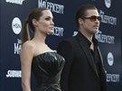 Angelina Jolie a Brad Pitt na premi��e filmu Zloba - Kr�lovna �ern� magie (Hollywood, 28. kv�tna 2014)