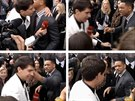 Vitalij Seďuk se pokusil políbit Willa Smithe na premiéře filmu Muži v černém 3...