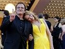 Uma Thurmanová a Quentin Tarantino (Cannes, 23. května 2014)