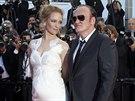 Uma Thurmanová a Quentin Tarantino (Cannes, 24. května 2014)