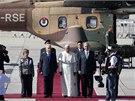 Pape� Franti�ek se setkal s izraelsk�m prezidentem �imonem Peresem a premi�rem