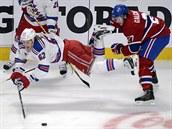 Po zákroku Alexe Galčenjuka z Montrealu odletěl Carl Hagelin z NY Rangers.