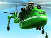 z filmu Letadla 2: Strážce Větrník je silný vrtulník, který unese desítky...