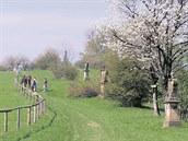 Křížovou cestu lemuje čtrnáct barokních pískovcových zastavení. Nevšední...
