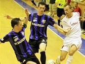 Momentka z futsalového utkání Chrudim (bílá) - Teplice