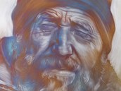 Portrét Rudolfa Krautschneidera vytvořený unikátní technikou zvanou