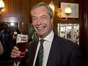 Předseda Strany nezávislosti Spojeného království Nigel Farage.