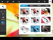 Adobe Photoshop Touch nab�z� velmi rozs�hl� mo�nosti tvorby grafiky na tabletech