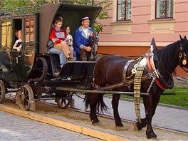 Takhle kdysi vypadala slavná koněspřežka z Českých Budějovic do Lince