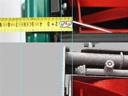 Porovnání šířky sekání a šířky stroje u staré a nové sekačky