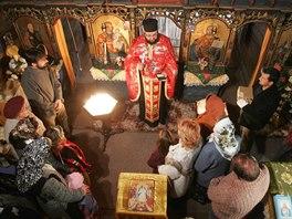 Pravoslavný kostelík svatého Mikuláše v Jiráskových sadech v Hradci Králové.