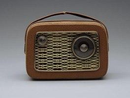 Tranzistorové rádio Tesla Comet 9 Commodore, vyráběno od roku 1958 (z výstavy