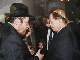 Karol Sidon s V�clavem Havlem