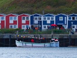 Přístavní domky na Helgolandu