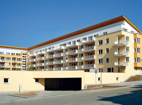 Při realizaci bytového komplexu v Brně-Líšni byl jako ochrana hydroizolačního
