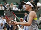 SENZACE. Chorvatská tenistka Ajla Tomljanovičová se raduje z postupu do 4. kola...