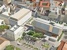 Nové vizualizace ukazují druhou etapu rekonstrukce a nový koncertní sál mezi ulicemi Besední a Veselá.