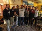 Kapela Kryštof s americkými producenty ve studiu Sono během natáčení sedmé...