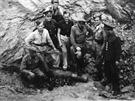 Ničení válečné munice Znojmo - 23 8 1946.