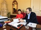Jeden�ctilet� Jakub Zeman se v�t�zstv�m ve v�tvarn� sout�i stal na den...