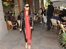 Kim Kardashianová v Pařížské ulici