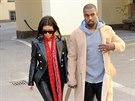 Kanye West a Kim Kardashianová v Praze