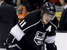 ZKLAM�N�. An�e Kopitar po por�ce Los Angeles Kings.
